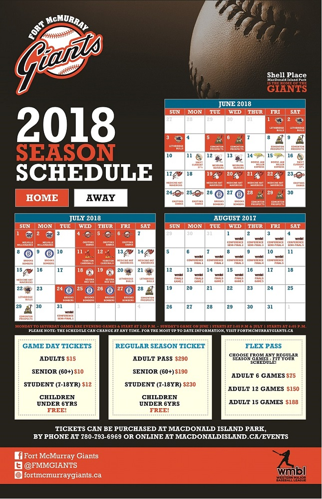 fort mcmurray giants 2018 season schedule is here